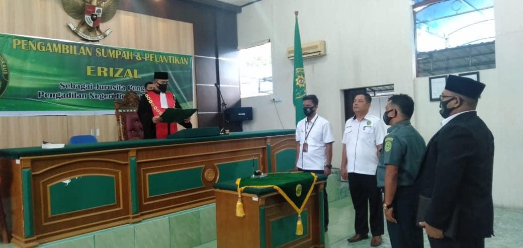 Pengambilan Sumpah dan Pelantikan Sdr. Erizal menjadi Jurusita Pengganti Pengadilan Negeri Bengkalis