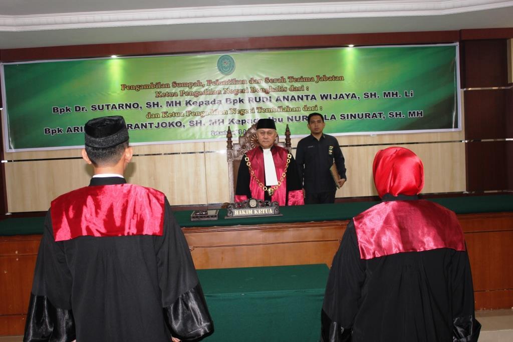 Pelantikan dan Serah Terima Jabatan Ketua Pengadilan Negeri Bengkalis dan Tembilahan