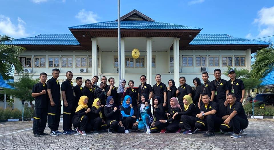 Kegiatan Senam Pagi Hari Jum'at di Pengadilan Negeri Bengkalis